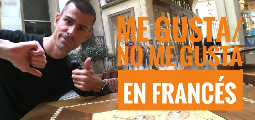 me gusta o no me gusta en francés