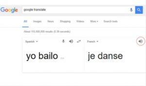 Presente en francés