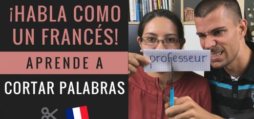 Palabras cortadas en francés